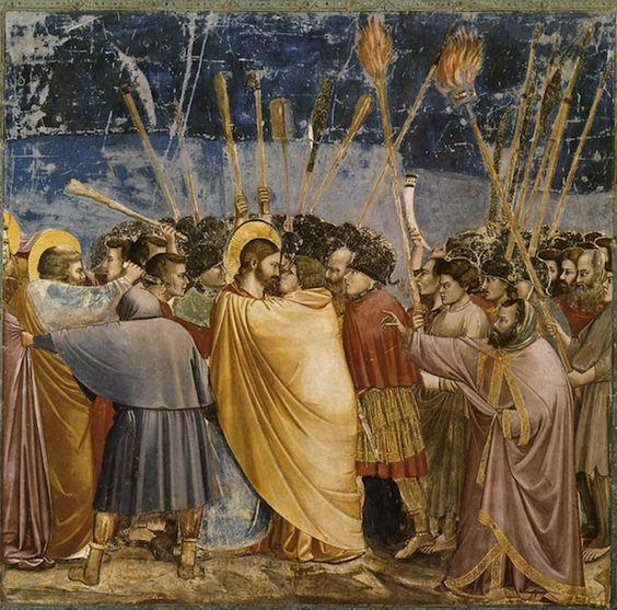 Nouveau Testament L'arrestation du Christ Giotto (Padoue)