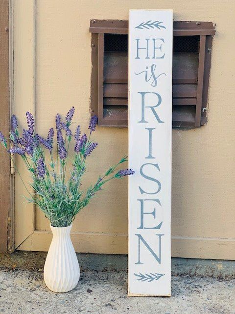 Pin By Lee Graydon On Decor Diy In 2020 Porch Signs Easter Wood Signs Rustic Easter Decor