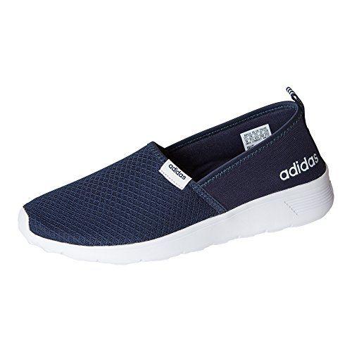 adidas Women Cloudfoam Lite Racer Slip On Shoes, Navy/Whi ...