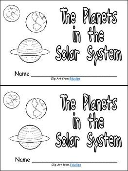 preschool solar system boklet - photo #48