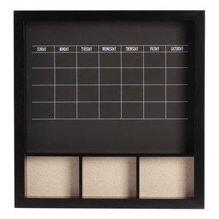 Wooden Chalkboard Wall Calendar
