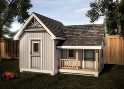 Sheds and storage on pinterest for Storage shed and playhouse combo