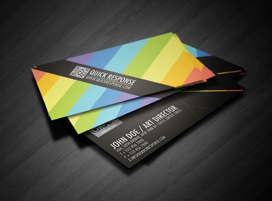 Nice colourful business card