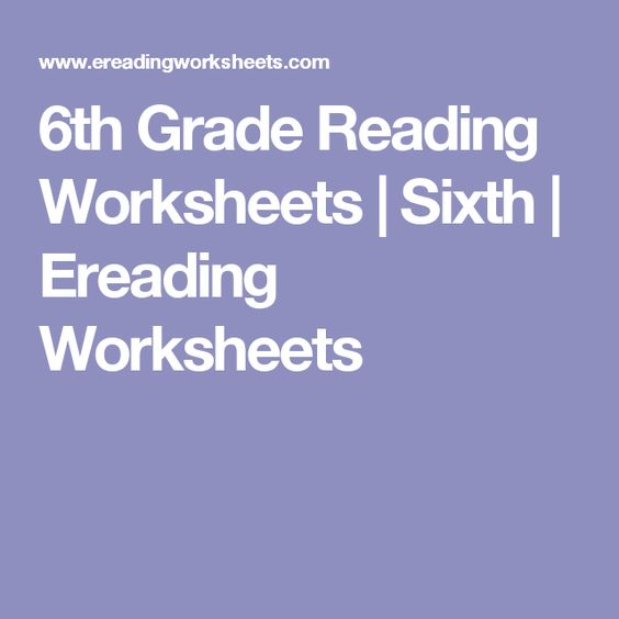 6th Grade Reading Worksheets Sixth Ereading Worksheets – E Reading Worksheets