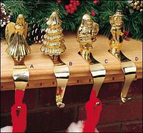 Brass Stocking Hangers 53