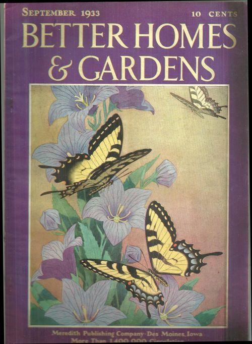 Better Homes And Gardens Magazine September 1933 Vintage