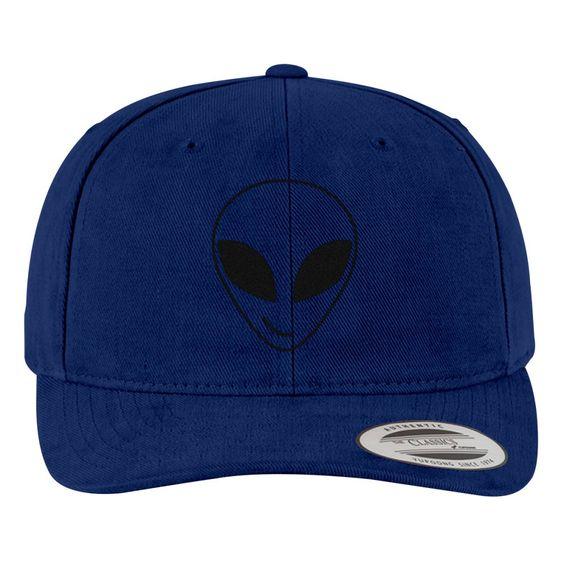 Alien Smiling Pocket Brushed Embroidered Cotton Twill Hat