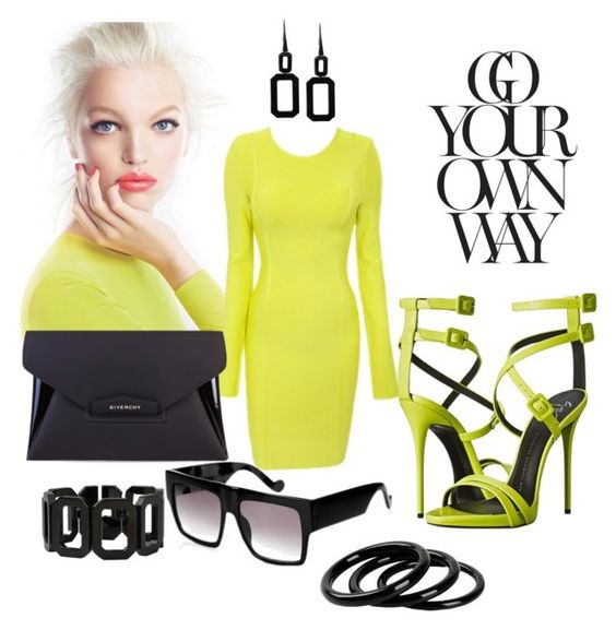 """""""neon"""" by anagossip on Polyvore featuring Givenchy, Furla and Rebecca"""