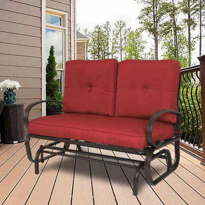Rocking Bench, Outdoor Rocking Bench With Cushions
