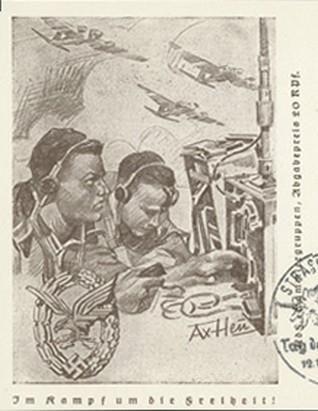 WWII German Postcard, Luftwaffe Communications Troops
