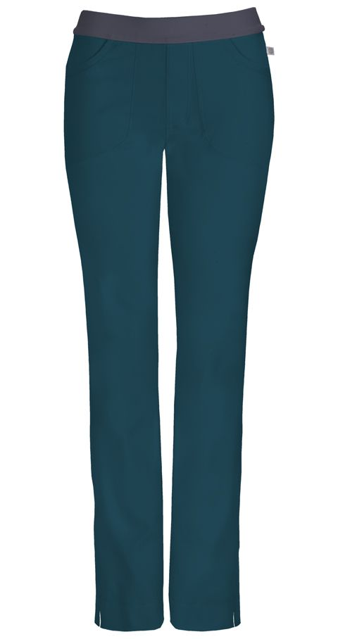 (1124A) Infinity by Cherokee - Low-Rise Slim Pull-On Pant - Jen's Scrubs