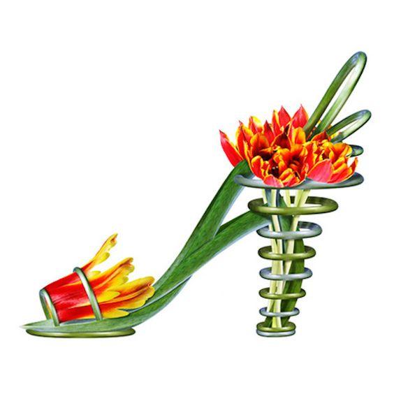 Shoe Fleur by Michael Tcherevkoff