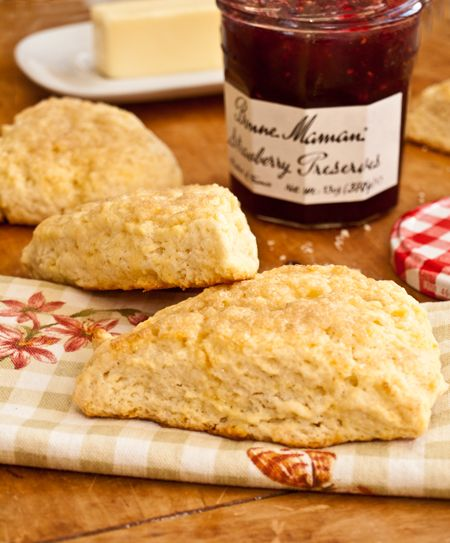 Light and Tender Cream Scones - Once Upon a Chef: