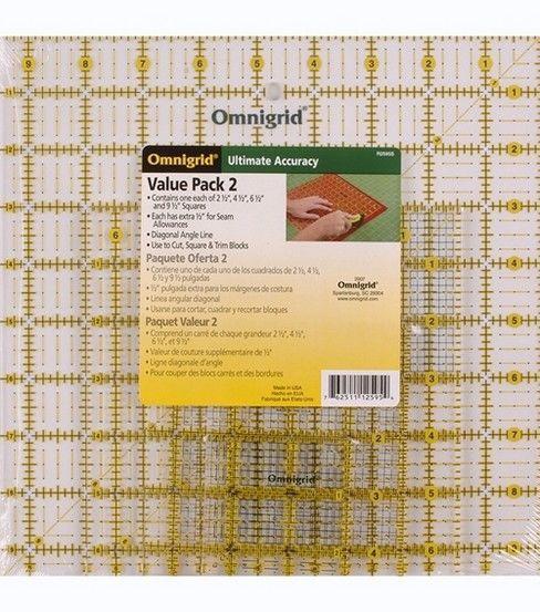Omnigrid Ruler Set-Value Pack 2 4//Pkg