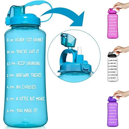 Hydromate 1 Gallon 1 2 Half Gallon Straw Motivational W Https Www Amazon Com Dp B07xgndp8j Ref Cm Sw R Pi Motivational Water Bottle Water Bottle Bottle