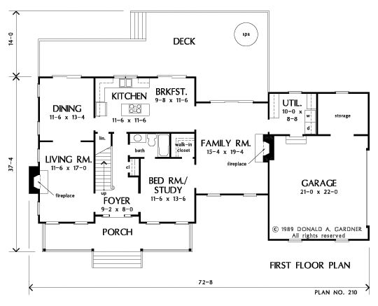 Superb First Floor Plan Of The Montgomery   House Plan Number 210