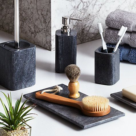 This beautiful range of bathroom accessories is made from cool, grey marble and will lend elegant, spa style to any contemporary en-suite or bathroom.