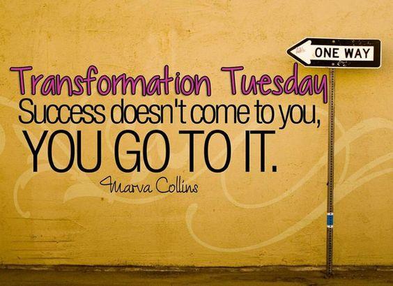 Transformation Tuesday! I like that!