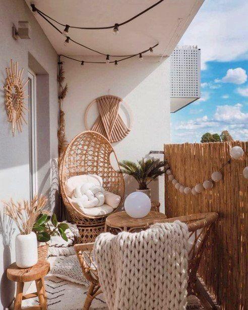 Zet je balkon af met bamboematten tegen inkijk