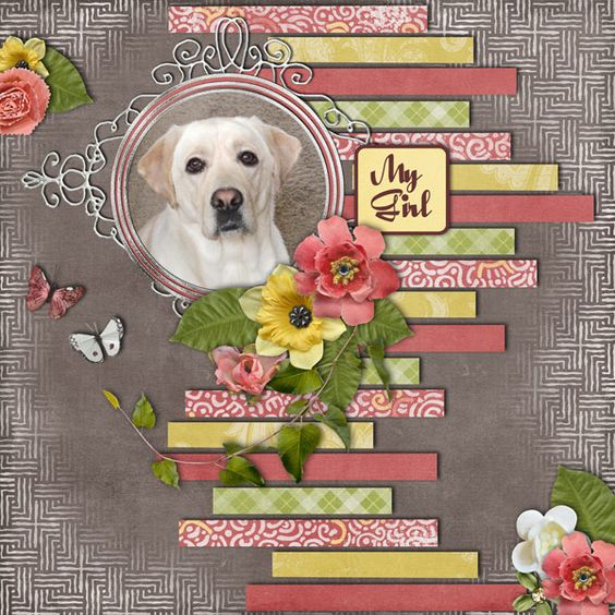 #papercraft #scrapbook #layout Ideas for Scrapbookers. this would be a great idea to use for a page for Charmane. should put words on the strips