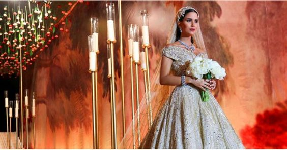 This Lebanese Bride's Custom Wedding Dress Was So Magical, It Got Its Own…