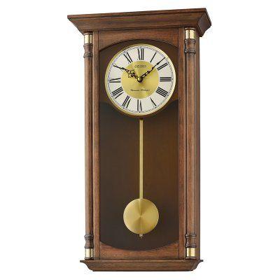 Seiko Qxh107blh Chiming Traditional Wall Clock Traditional Wall Clocks Pendulum Wall Clock Wall Clock