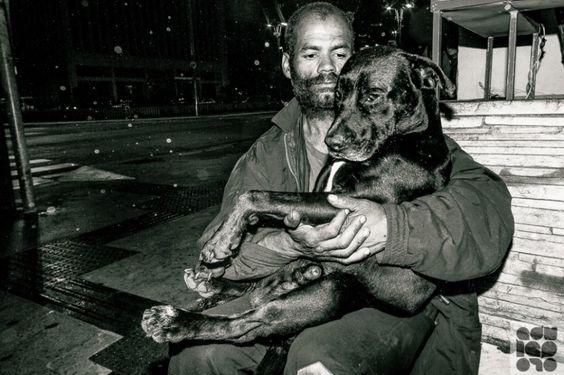 Morador de rua morre e cão permanece ao lado do corpo em SP