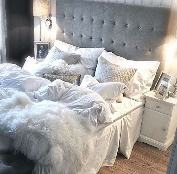 Grey and white Dream home Pinterest Bedrooms, Gray and Room - wandfarben f amp uuml r schlafzimmer
