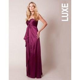 #Robe de #maternité bustier Magenta #Seraphine - idéale pour une #demoiselle d'honneur http://www.seraphine.fr/robe-de-grossesse-en-soie-imprimee-fleurs.html