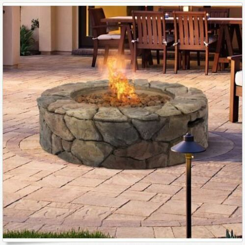 Fire Pits On Sale Outdoor Stone Build Patio Furniture Propane Gas