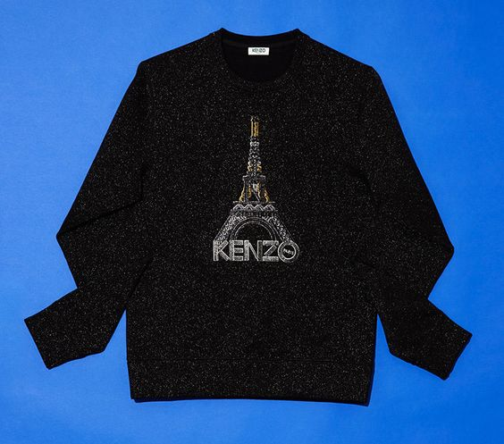 This Kenzo Eiffel Towel Sweater is Bedazzled and Bold #winter #fashion trendhunter.com