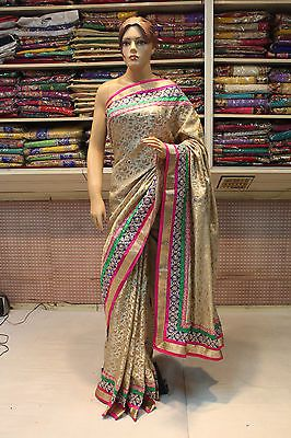 Indian bollywood designer women saree sari ladies evening party ...