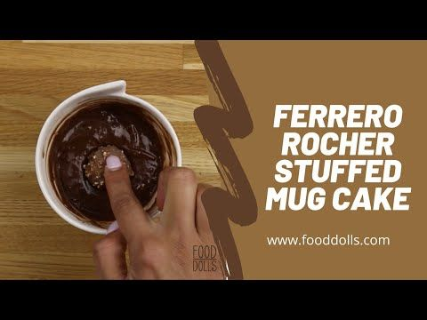 ferrero rocher stuffed mug cake food dolls in 2020 nutella recipes easy nutella recipes mug recipes pinterest