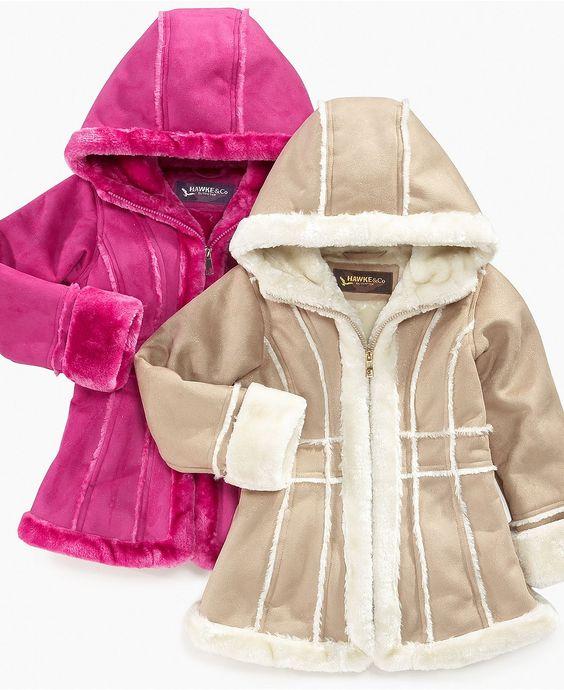 Hawke &amp Co. Kids Jacket Girls Faux-Shearling Coats - Kids Jackets