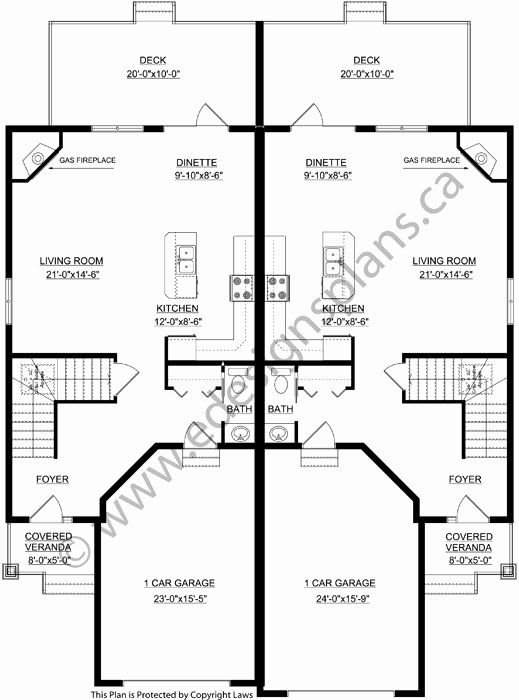 2 Bedroom Duplex House Plans Beautiful Duplex Plan A Side By Side Ground Level Duplex In 2020 Duplex Floor Plans Architectural House Plans Duplex Plans