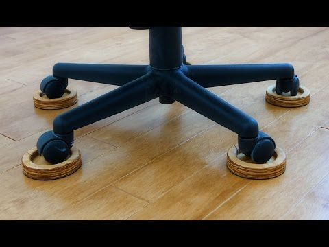 Save Your Wood Floor From The Evil Office Chair With These Diy