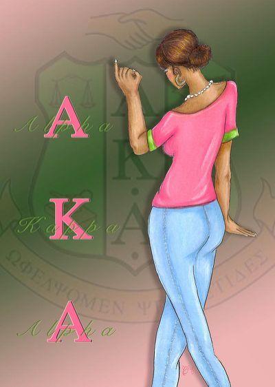 Alpha Kappa Alpha Drawing