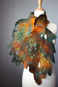Felted wrap. Lots of polymer inspiration here and in the others at the linked site.