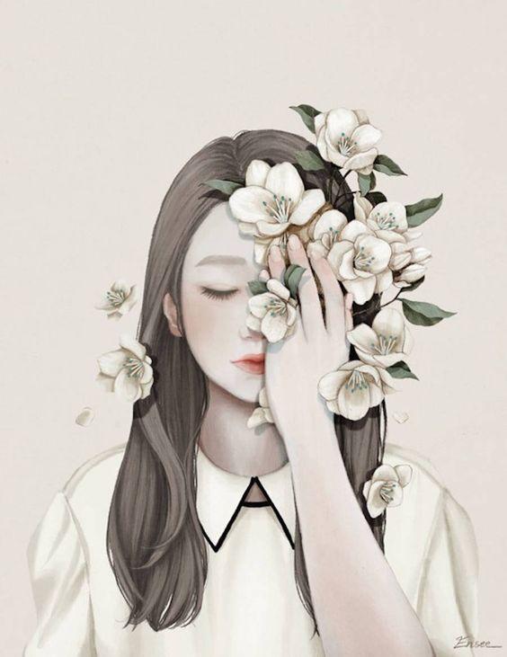 Ilustração delicada por Choi Mi Kyung: