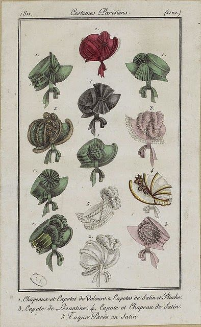 Kleidung um 1800: 1813 Costume Parisien Chapeau de Reps