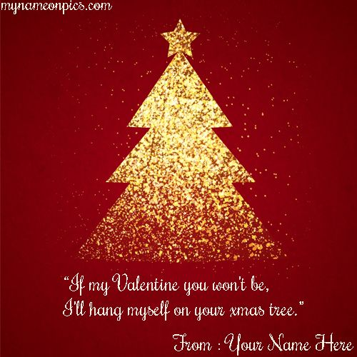 Want To Merry Xmas Tree Quotes 2018 Image With Name Online Write Name On Happy Merry Xmas Tree 2 Christmas Graphics Glitter Christmas Red Christmas Background