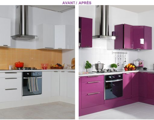 Relooker ses meubles de cuisine peu de frais cuisine for Peinture meuble cuisine v