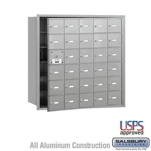30 Door (29 Usable) 4B  Horizontal Mailbox Front Loading A Doors USPS Access