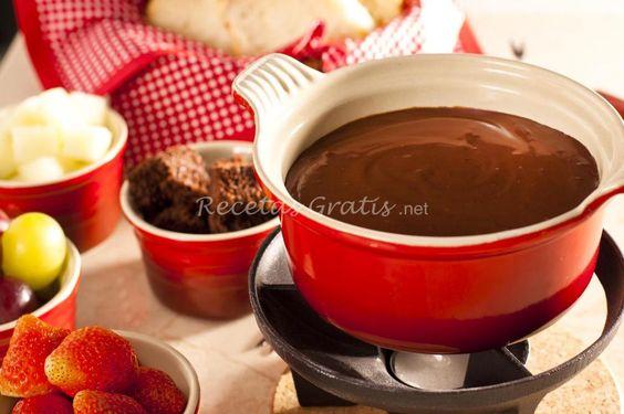 Receta de Mi fondue de chocolate