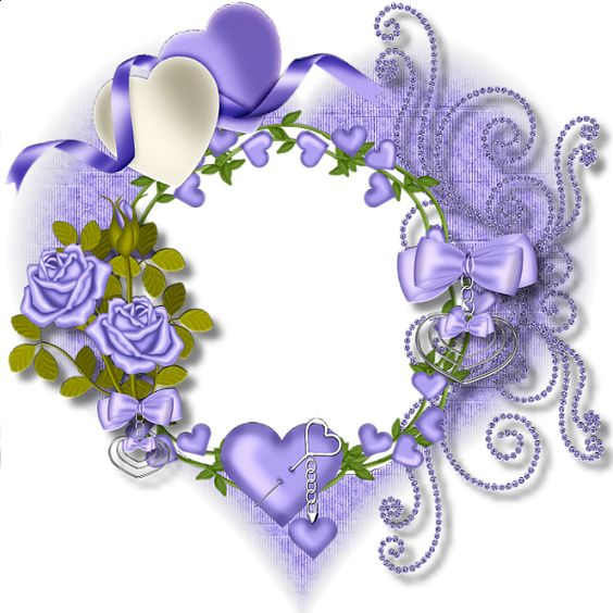 Purple Heart Transparent Frame: