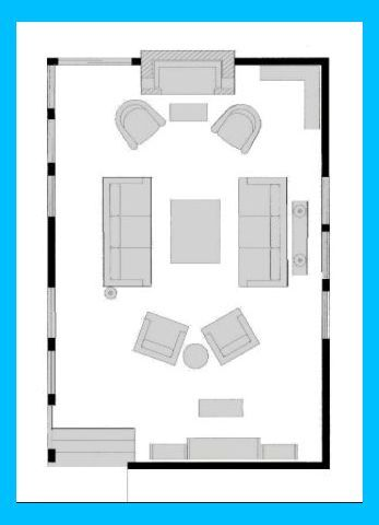 Living Room Layout With Fireplace And Tv On Opposite Walls Living Room Layout With Firepla Livingroom Layout Family Room Layout Room Layout