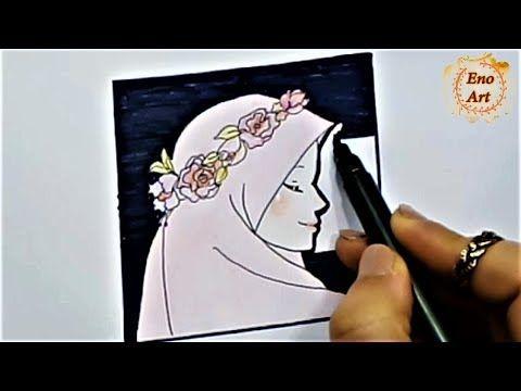 رسم سهل فتاه محجبه كيوت مع تاج ورد تعليم الرسم للاطفال خطوه بخطوه Youtube Cute Easy Drawings Easy Drawings Girl Drawing