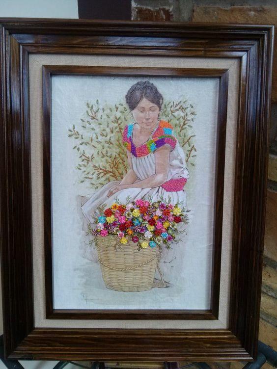 Cuadro bordado cuadros bordados pinterest - Cuadros para dormitorios leroy merlin ...