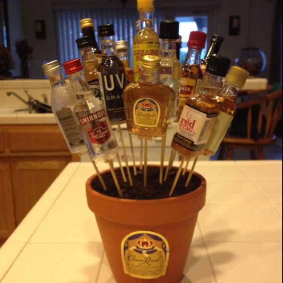 21st birthday alcohol bouquet! That I made :)