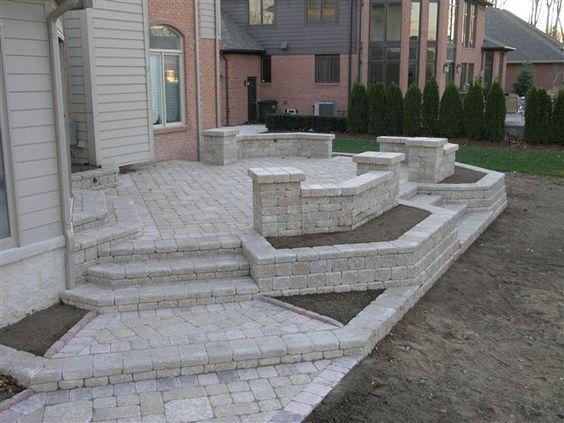 concrete block raised patio Google Search